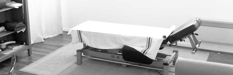 Photo de la table d'ostéopathie