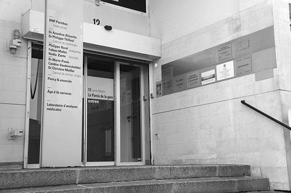 Entrée du cabinet d'osteopathie de Troyes dans l'Aube
